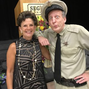 Barney Fife Impersonator Rik Roberts pictured here with read legend Jack Pattie (WVLK)