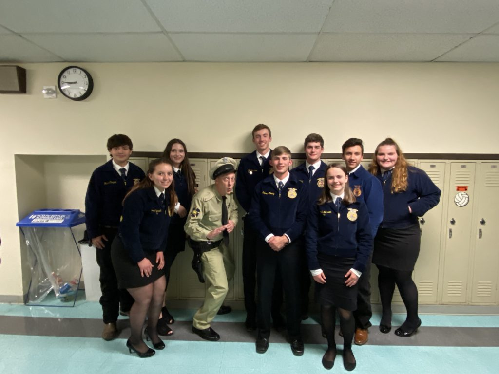 AG Speaker Rik Roberts as Barney Fife with FFA